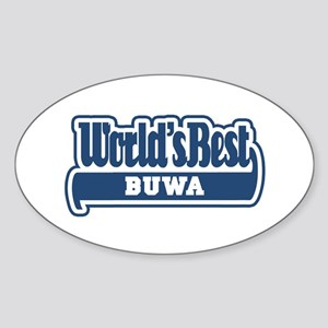 WB Dad [Nepali] Oval Sticker